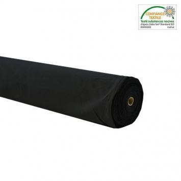 Rouleau 28m burlington infroissable Oeko-tex noir 280cm grande largeur
