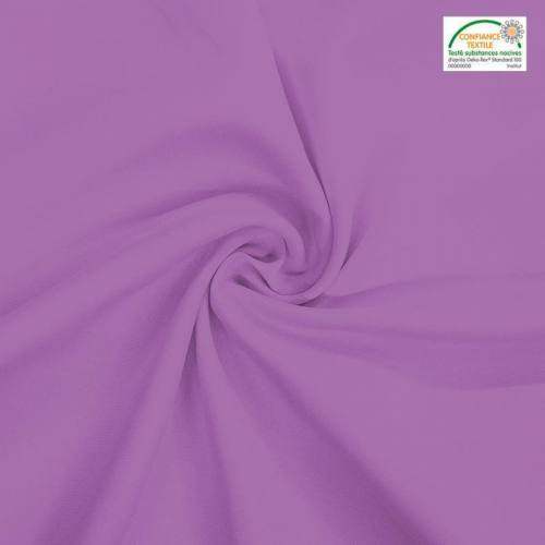 Rouleau 31m burlington infroissable Oeko-tex lilas