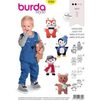Patron Burda 6395 : Animal en peluche