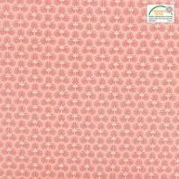 Coton rose motif trèfle