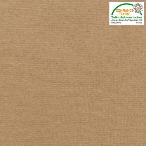 Tissu tubulaire bord-côte chiné beige