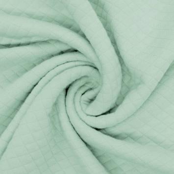Jersey matelassé vert menthe