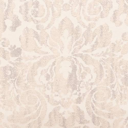 Jacquard tissage arabesques vieux rose