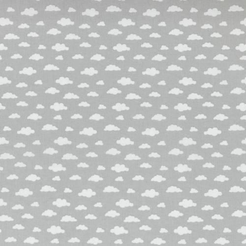 Coton gris thé imprimé nuage