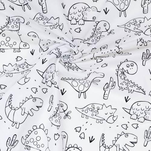 Coton à colorier motif dinosaure
