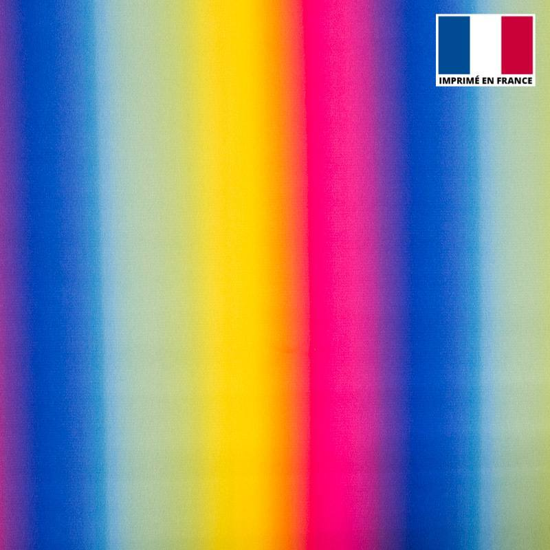 Satin arc-en-ciel multicolore