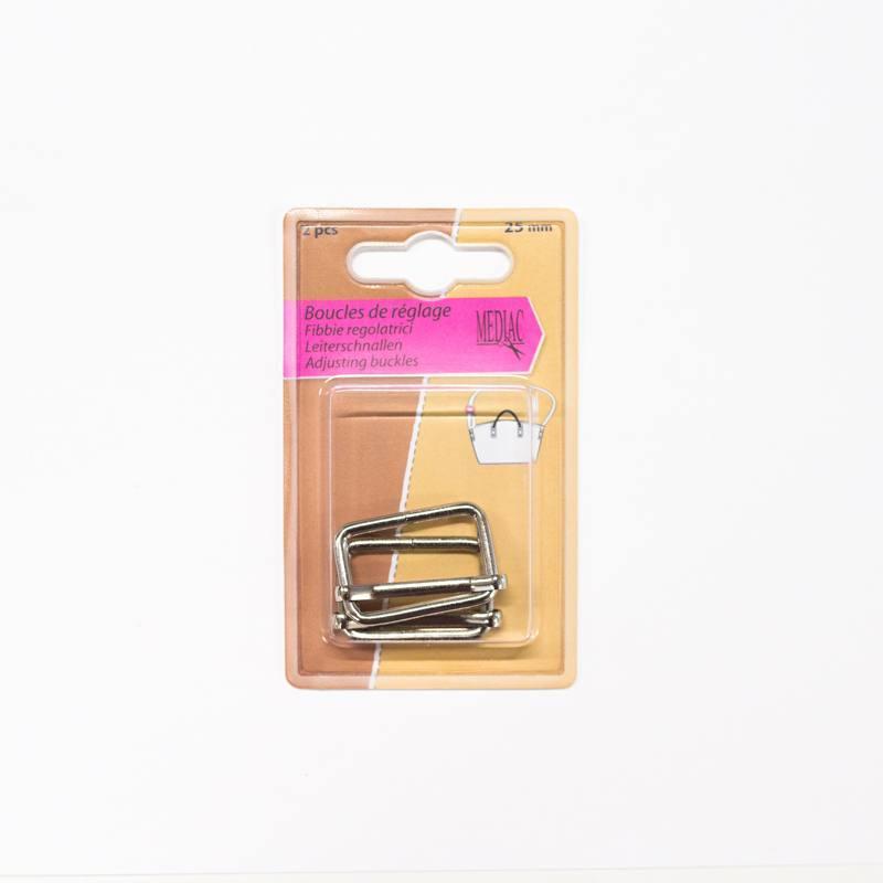 Boucles de réglage argent X2 25mm