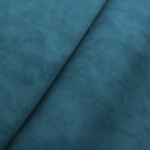 Simili cuir marbré bleu pétrol