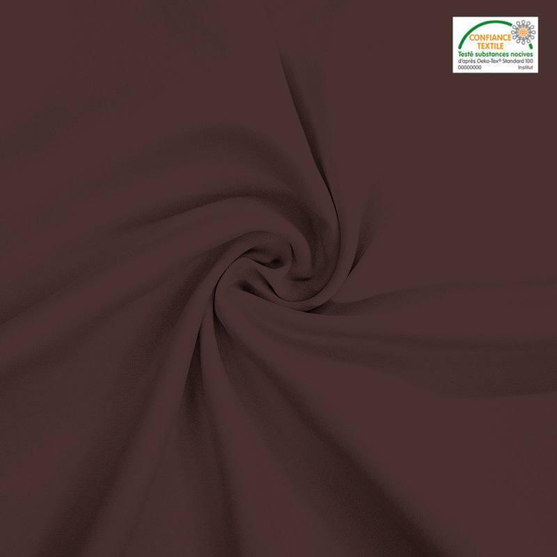 Rouleau 28m burlington infroissable Oeko-tex marron 280cm grande largeur