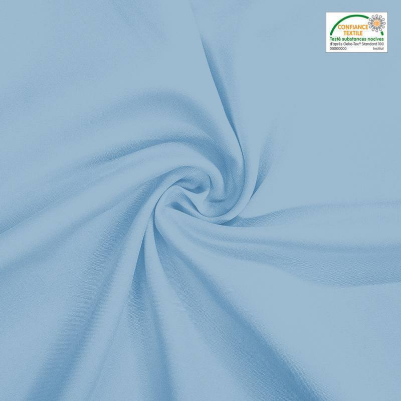 Rouleau 30m burlington infroissable Oeko-tex bleu azurin