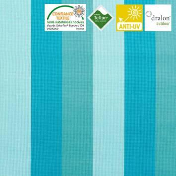 Toile extérieure téflon grande largeur boston turquoise
