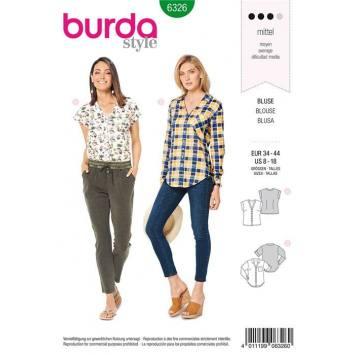 Patron Burda 6326 : Blouse Taille : 34-44