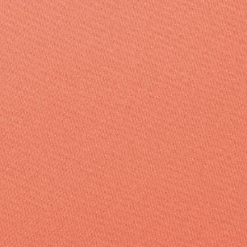 Coton uni couleur pêche