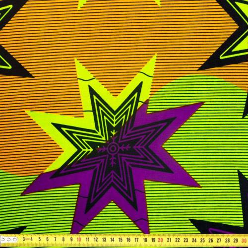 Wax - Tissu africain étoile Pop Art 321