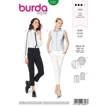 Patron Burda 6327 : Blouse Taille : 34-44