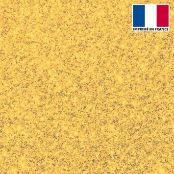 Lycra imprimé poussière d'étoile dorée