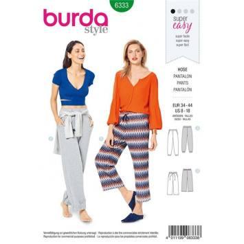 Patron Burda 6333 : Pantalon Taille 34-44