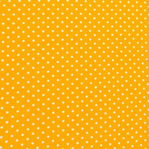 Velours côtelé milleraies jaune à pois blanc