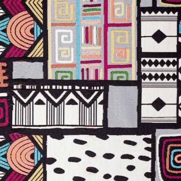 Jacquard motifs géométriques multicolores