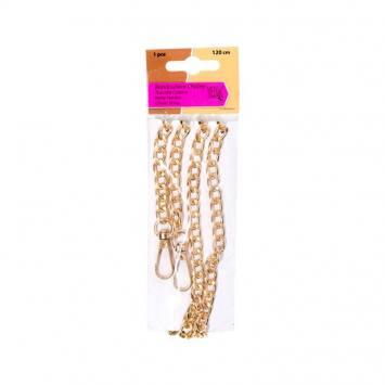 Bandoulière chaîne 120 cm couleur or