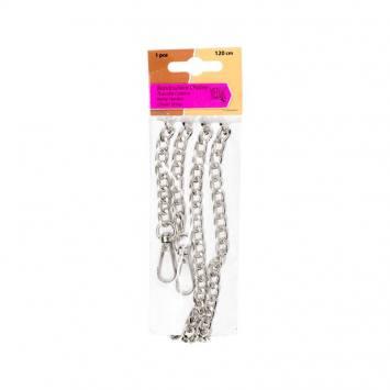 Bandoulière chaîne 120 cm couleur argent