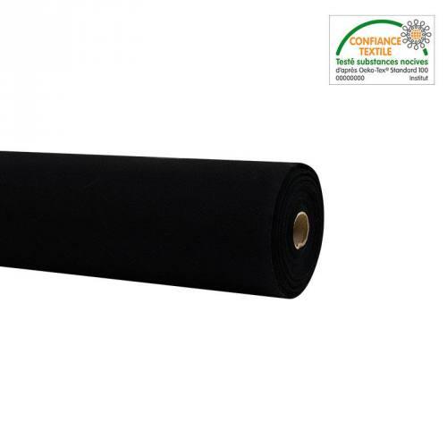 Rouleau 20m Toile coton noire grande largeur