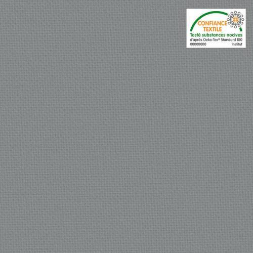 Toile coton gris grande largeur