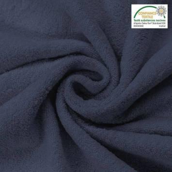 Tissu éponge bleu foncé