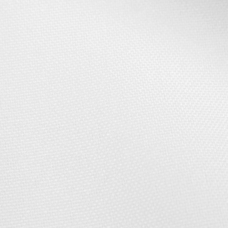 Rouleau 28m Burlington infroissable Oeko-tex blanc grande largeur
