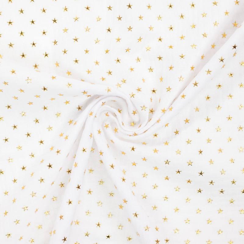 Double gaze blanche étoile dorée