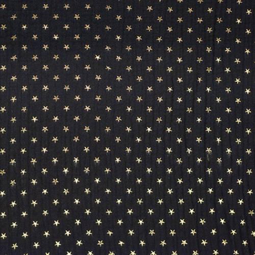 Double gaze noire étoile dorée