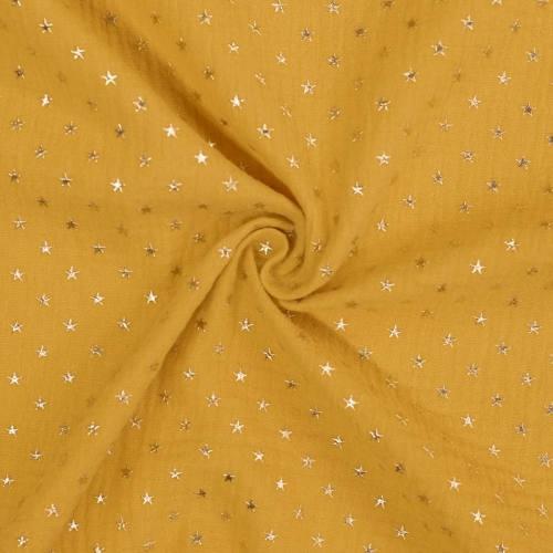 Double gaze safran étoile dorée