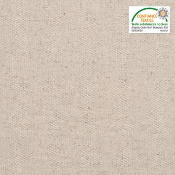 Toile coton vanille grande largeur