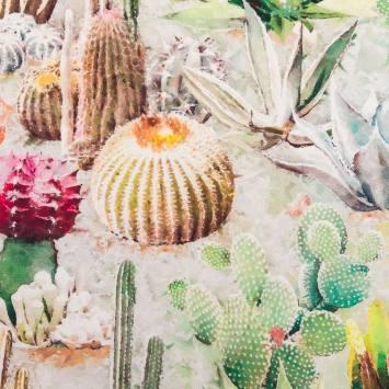 coupon - Coupon 50cm - Velours picas cactus