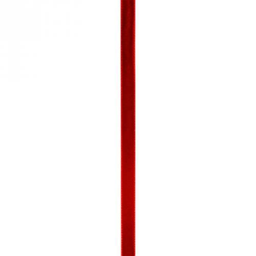 Ruban velours 10 mm rouge