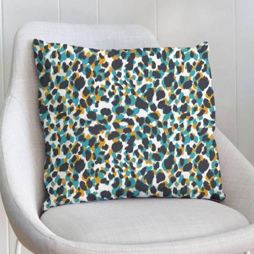 Velours ras imprimé léopard abstrait