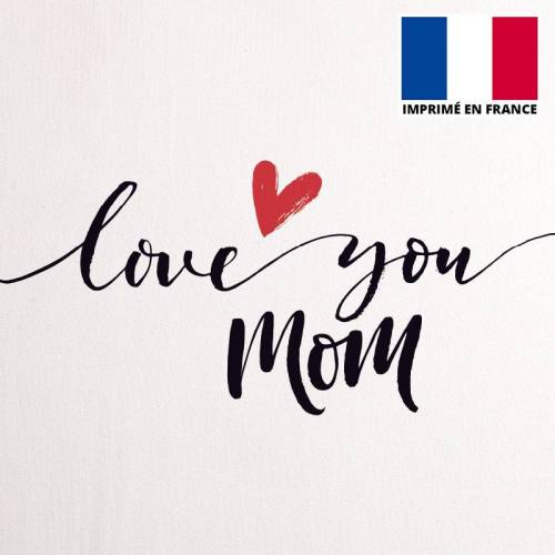 Coupon 45x45 cm toile canvas love you mom