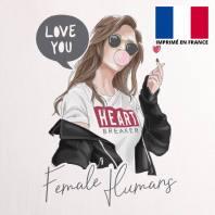 Coupon 45X45 cm toile coton canvas femme love you