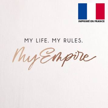 Coupon 45x45 cm toile canvas my life my rules