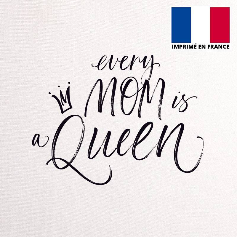 Coupon 45x45 cm toile canvas mom queen