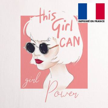 Coupon 45x45 cm toile canvas this girl can