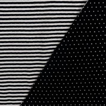 Jersey réversible motif géométrique