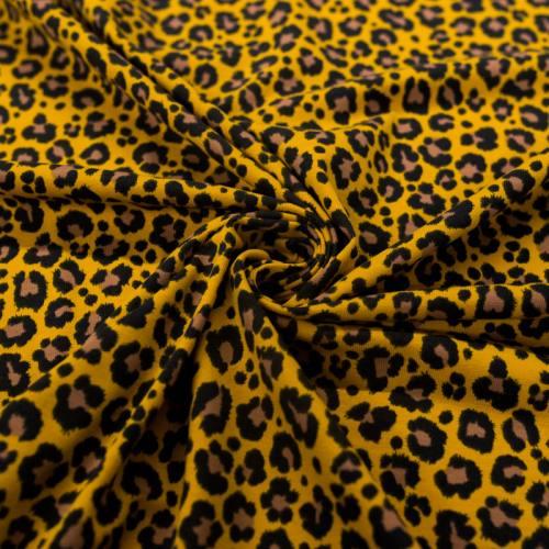 Jersey ocre motif léopard