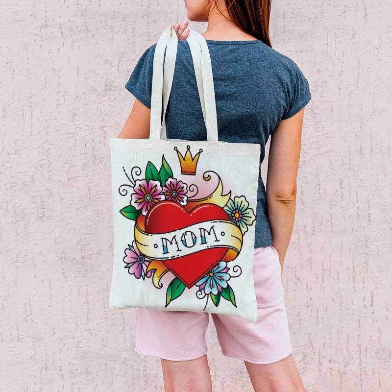 Coupon 45x45 cm toile canvas tattoo maman