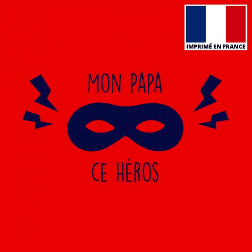 Coupon 45x45 cm toile canvas papa héros rouge