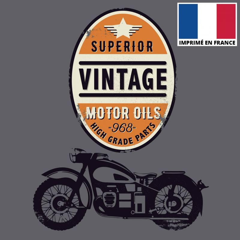 Coupon 45x45 cm toile canvas moto vintage