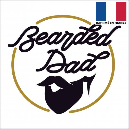 Coupon 45x45 cm toile canvas bearded dad