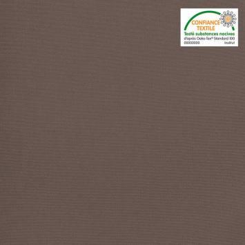 Toile coton gris taupe grande largeur