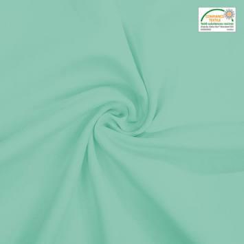 coupon - Coupon 60cm - Burlington infroissable Oeko-tex vert opaline