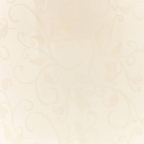 Tissu jacquard crème anti-tâche motif arabesque grande largeur